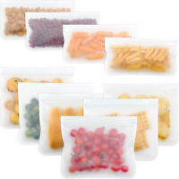 Reusable Food Storage Bags Silicone Sandwich Snack Bacon Bag For Liquid Fruit