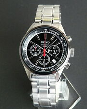 Seiko Chronograph Stainless Steel Black Ion Men,s Watch SSB045P1