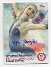 2014 Topps USA Olympic Team Authentic Autograph #96 Agnes Zawadzki Figure Skate