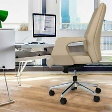 Lonabr Mid Back Executive Office Chair Ergonomic Pu Leather Task Computer Gaming