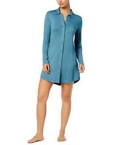 Alfani Womens Lace Trim Sleepshirt Blue X-Small