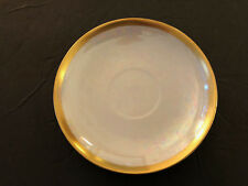 Epiag? GB Made in Czechoslovakia Lustreware Smooth Gold Trim Band TEA CUP SAUCER