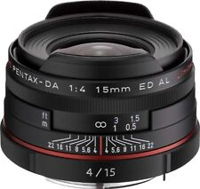 PENTAX Super-Wide-Angle Single Focus Lens HD DA 15mm F4 ED AL Limited Black F/S
