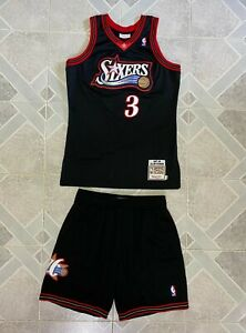 Mitchell & Ness Allen Iverson Jersey (size 40) and Shorts (size Large)