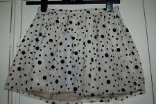 New Sz 10 Topshop 3 layer Velvet Spot Mini Skirt Beige & Black Pleated Waist