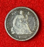 US 1872 Seated Liberty Half Dime ½ Dime 5C Good Coin! 89