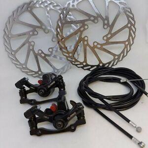 Mechanical Disc Brake Set - Clarks CMD-21 Calipers Rotors Cables Pads MTB Bike