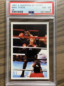 Mike Tyson 1987 Question of Sport NM-MT PSA 8 Knockout Heavyweight Champ