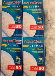 4 AquaClear50 Biomax Filter Insert Biological Stage 4.4 oz Aquarium Media A1372
