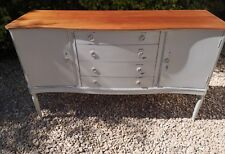 PAINTED SOLID MAHOGANY 4 DRAWER SERVER SIDEBOARD LAMP ROOM GRAY FARROW AND BALL