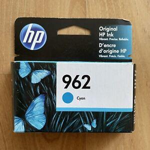 GENUINE HP 962 Cyan Ink Cartridge 12/2021 - FACTORY SEALED