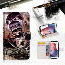 Iron Maiden Wallet TPU Case Cover For Motorola Moto X Force-- A014