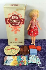 Vintage Little Beauty Vinyl Doll With Saran Rooted Hair & Accessories