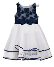 Desiree 10 - 11 yrs old Navy Blue Soutache Girl's Dress ~ New