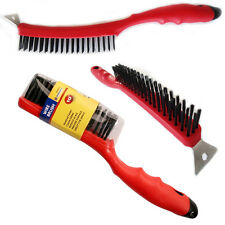 WIRE BRUSH SCRAPER RUST PAINT REMOVER HEAVY DUTY TOOL LONG HANDLE WEED PATIO NEW