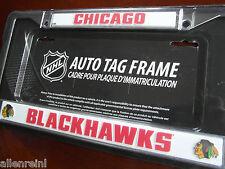 1 Chicago Blackhawks Chrome Auto License Plate Frame - Enhanced Design