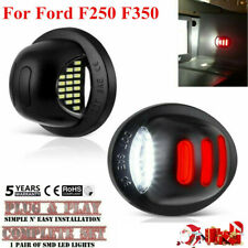 LED License Plate Tag Light Lamp Red White For 1999-16 Ford F250 F350 Pickup~
