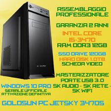 PC FISSO ASSEMBLATO INTEL Core i5-3470s RAM DDR3 12GB SSD120GB HDD 1TB DVD-RW