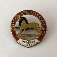 More details for british empire exhibition 1924 wembley lion enamel pin badge