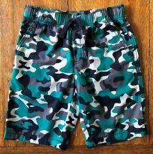 Gymboree Size 4 5 Camo Shorts Green Navy Blue Gray Camouflage Elastic Waist Boys