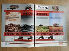 CASE 94 SERIES WHITE TRACTORS COLOUR FARMING ORIGINAL POWER FARMING ADVERT IN VG