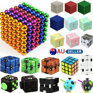 3D Magnets Magic Balls Beads 3/5mm Puzzle Ball Sphere Magnetic Toys-6 Colors AU