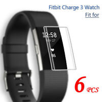6x HD Full Covered Tempered Glass Screen Protector For Fitbit Charge 3 Watch