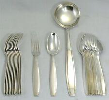 Boulenger Art Déco, 12 couverts de table + louche, métal argenté, 25 pièces.