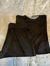 Cuddl Duds Boy'S Charcoal Gray Base Layer Set Size Xl 18/20