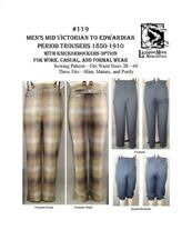 Mens Victorian Edwardian Trousers Pants 1850-1910 Laughing Moon Sew Pattern 119