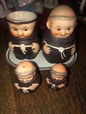 Goebel Friar Tuck, Sugar/Creamer Set -Sugar Z37, Creamer S141/0, Salt / Pepper