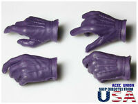 1/6 Batman Joker Gloved Hands For Hot Toys DX11 DX01 Male Figure U.S.A. SELLER