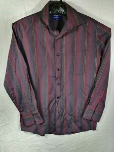 Chemise Pour Homme Mens Button Up Shirt Medium Red/Black Long Sleeve Collared