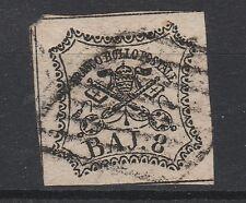 FRANCOBOLLI 1852 STATO PONTIFICIO 8 BAJ D/4555