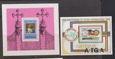 ANTIGUA  Three souv sheets, Picasso, Royals, Rotary  NH