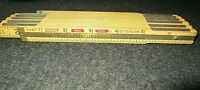"""Vintage Lufkin X46 Red End 72"""" Folding Extension Ruler Made in USA"""