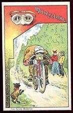 "chromo Digestif Jost "" Les Sports Modernes "" Motocyclette . moto ancienne"