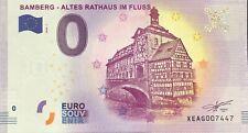 BILLET 0 ZERO EURO SCHEIN SOUVENIR BAMBERG - ALTESRATHAUS IN FLUSS N° RADAR 7447