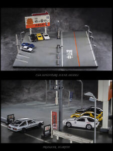 1/64 Initial D Diorama Size Compatible with Hotwheels Tomica Kyosho Matchbox