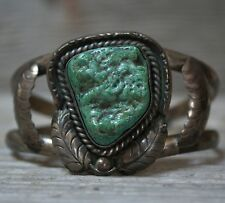 Superb Old Pawn Navajo Native American Turquoise Sterling Silver Cuff Bracelet