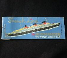 CGT French Line SS NORMANDIE Matchbook Cover