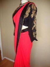 Beautiful Indian Saree Sari With Long Manche Blouse