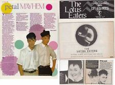 THE LOTUS EATERS : CUTTINGS COLLECTION - adverts interview