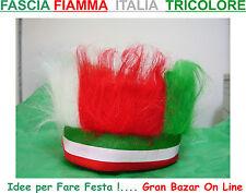FASCIA FIAMMA ITALIA TRICOLORE CAPPELLO CAPPELLINO TIFOSO NAZIONALE - ELASTICA -
