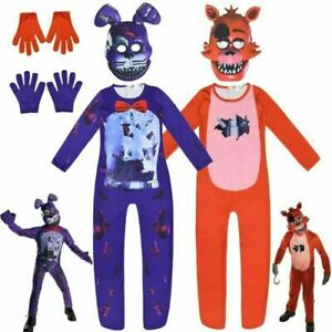 Five Nights at Freddy's Bonnie Cosplay Costume kid's pullover Bodysuit Jumpsuit