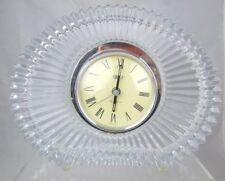Mikasa Mantel Clock Quartz Crystal Starburst Shelf Germany Works Decor Working 6