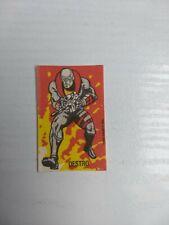 G.I. JOE DESTRO + Vehicles Lot 22 stickers ARGENTINA chewing gum HASBRO INC. 80s