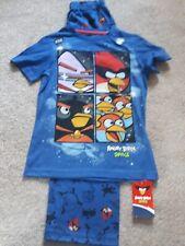 Boys Blue Angry Birds Pyjamas, M&S, Age 7-8yrs