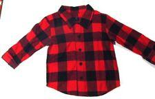 Just One You Red Black Plaid Flannel Long Sleeve Shirt Sz 18M Unisex Lumberjack