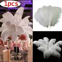 30-35cm Imported White Natural Ostrich Feathers DIY Wedding Party Decor Acc